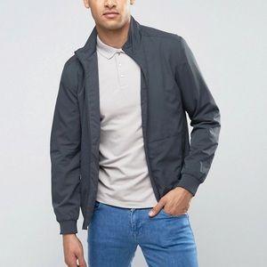SELECTED HOMME men's grey zip up bomber jacket